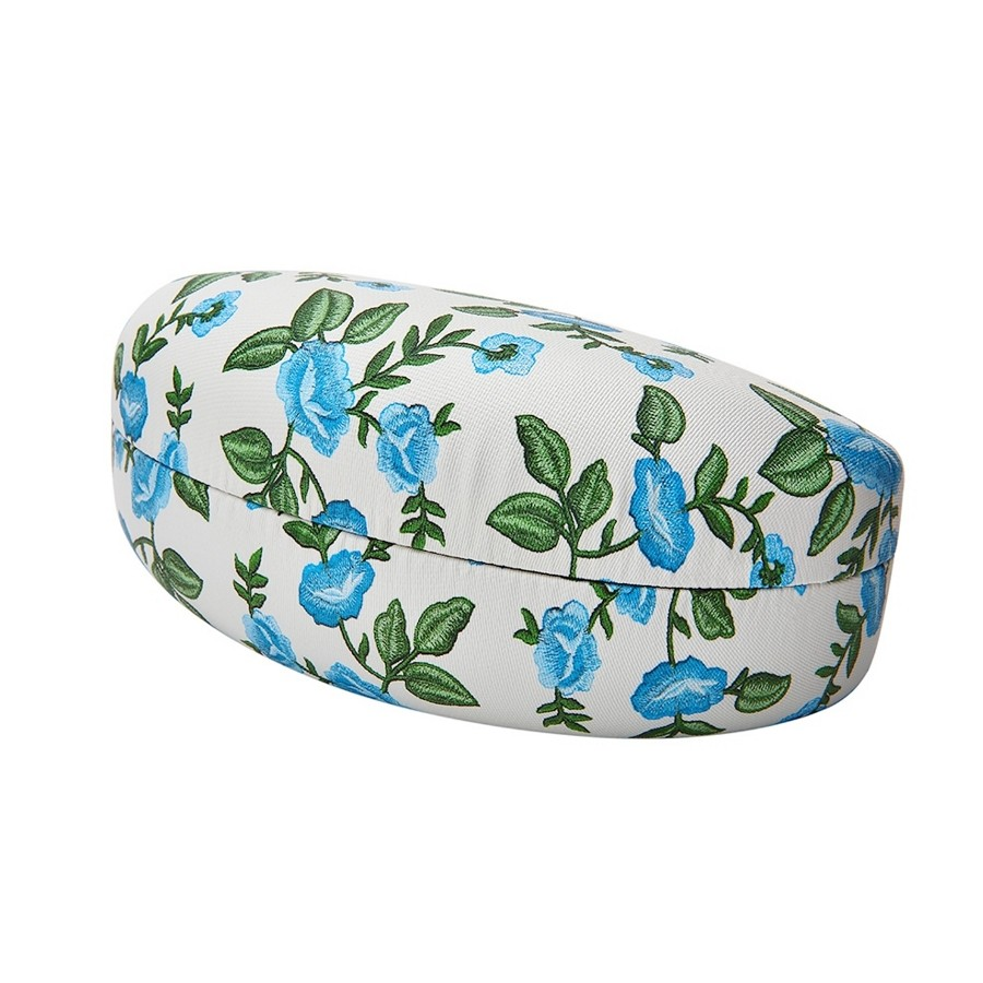BLUE FLORAL PRINT CLAMSHELL CASE