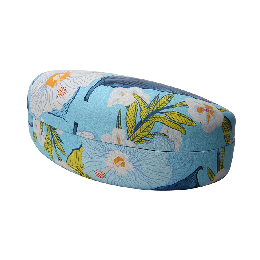 LIGHT BLUE FLORAL PRINT CLAMSHELL CASE
