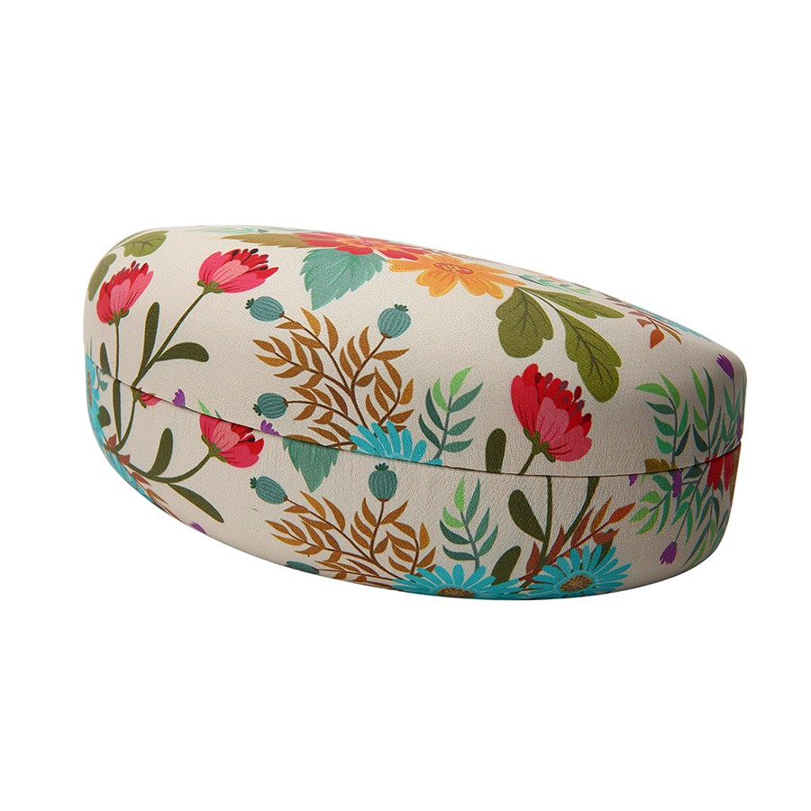 RED FLOWER  PRINT CLAMSHELL CASE