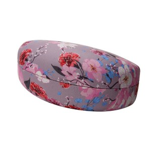 PINK FLORAL PRINT CLAMSHELL CASE