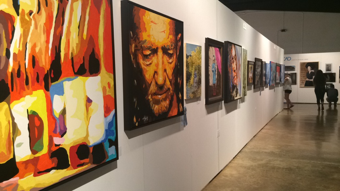 Art exhibit on site