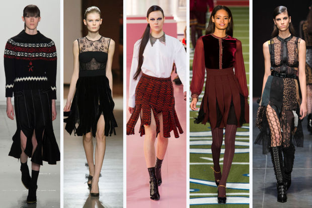 From left to right: Suno, Oscar de la Renta, Christian Dior, Tommy Hilfiger and Angelo Marani. Photos: Imaxtree